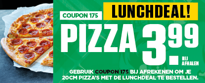 Lunchdeal 3,99 coupon 175