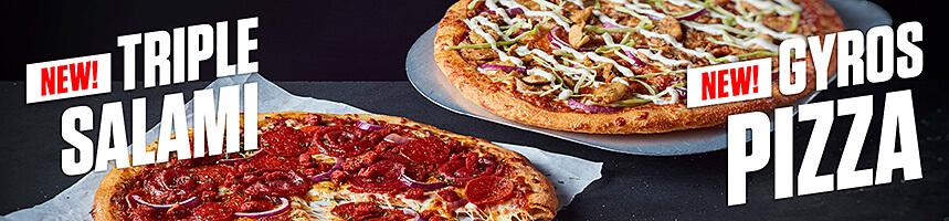Triple Salami Pizza & Gyros Pizza
